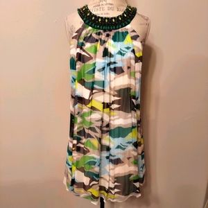 BCBGMaxAzria Silk Sleeveless Party Dress Sz 6
